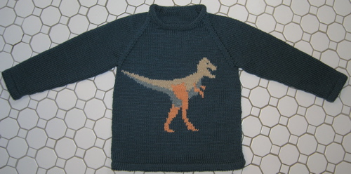 Knitting Pattern For Dinosaur Sweater : Search Results sweater : Grin and Frog It