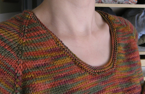 Knitting A Sweater Neckline : Nice neck : grin and frog it