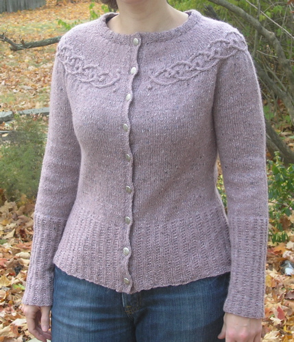 Rowan Knitting Patterns Errata : Tangled Yoke Cardigan Errata - Cardigan With Buttons